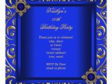 Royal Blue and Gold Birthday Invitations Gold and Blue Invites 13 000 Gold and Blue Invitation