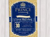 Royal Blue and Gold Birthday Invitations Prince Baby Shower Invitation Royal Blue Gold Baby Shower