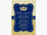 Royal Blue and Gold Birthday Invitations Prince Birthday Party Invitation Royal Blue Gold Birthday