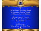 Royal Blue and Gold Birthday Invitations Royal Blue and Gold Party Invitation Zazzle