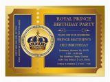 Royal Blue and Gold Birthday Invitations Royal Blue and Gold Prince Birthday Party 5×7 Paper