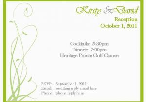 Rsvp Birthday Invitation Sample Template Best Collection