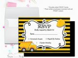Rsvp Cards for Birthday Party Construction Party Rsvp Card Birthday Party Rsvp Reply