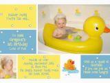 Rubber Ducky 1st Birthday Invitations 1st Birthday Invitation for Greyson Rubber Duck Photo