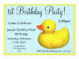 Rubber Ducky 1st Birthday Invitations First Birthday Rubber Ducky Personalized Invitation Zazzle