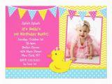 Rubber Ducky 1st Birthday Invitations Free Printable Rubber Ducky 1st Birthday Invitations