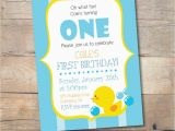 Rubber Ducky 1st Birthday Invitations Rubber Duck Birthday Invitation Printable Boy Birthday