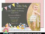 Rubber Ducky 1st Birthday Invitations Rubber Duck Birthday Invitation Rubber Duck by