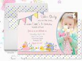 Rubber Ducky 1st Birthday Invitations Rubber Duck Party Invitation Girls 1st Birthday
