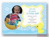 Rubber Ducky 1st Birthday Invitations Rubber Ducky Birthday Invitation Printable Boy with Multi