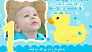 Rubber Ducky 1st Birthday Invitations Rubber Ducky Birthday Invitations Ideas Bagvania Free