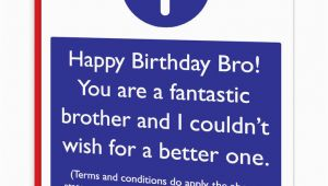 Rude Brother Birthday Cards Brainbox Candy Brother Bro Birthday Greeting Cards Funny