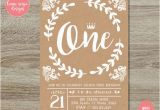 Rustic 1st Birthday Invitations Items Similar to Rustic Kraft First Birthday Invitation