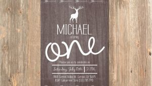 Rustic 1st Birthday Invitations Rustic Birthday Invitation Boy 39 S First 1st 2nd 3rd