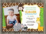 Safari First Birthday Invitations 17 Safari Birthday Invitations Design Templates Free
