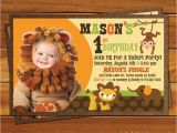 Safari First Birthday Invitations Annabella Custom Invitations and Announcements
