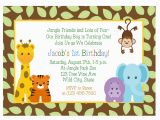 Safari First Birthday Invitations Birthday Invitations Jungle themed 1st Birthday