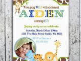 Safari First Birthday Invitations Items Similar to Safari Birthday Invitations Jungle
