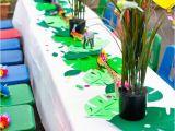 Safari themed Birthday Party Decorations Kara 39 S Party Ideas Tropical Rainforest Jungle Animal