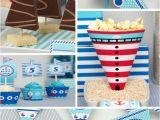 Sailor Birthday Decoration Kara 39 S Party Ideas Nautical Sailboat Birthday Party