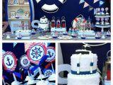 Sailor Birthday Decoration Kara 39 S Party Ideas Nautical themed First Birthday Party