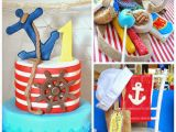 Sailor Birthday Decoration Kara 39 S Party Ideas Popeye Sailor themed Birthday Party