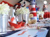 Sailor Birthday Decoration Kara 39 S Party Ideas Sailor Bear Birthday Party Planning