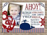 Sailor Birthday Invitations Ahoy Matey Boy 39 S Nautical Birthday Party Invitation