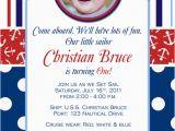 Sailor Birthday Invitations Little Sailor Nautical Birthday Photo Invitation