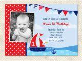 Sailor Birthday Invitations Nautical Birthday Invitation