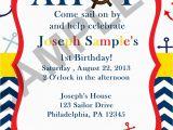 Sailor Birthday Invitations Nautical Sailor Birthday Invitation Digital File On Luulla