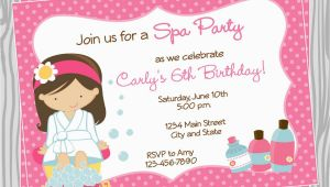 Salon Birthday Party Invitations Spa Birthday Party Invitations Party Invitations Templates