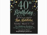 Sample 40th Birthday Invitation 40 Birthday Invitation Template orderecigsjuice Info