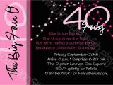 Sample 40th Birthday Invitation 40th Birthday Invitation Wording Oxsvitation Com