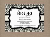 Sample 40th Birthday Invitation 8 40th Birthday Invitations Ideas and themes Sample