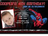 Sample 7th Birthday Invitation for Boy Cu896 Spiderman Birthday Invitation Boys themed