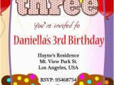 Sample Evite Birthday Invitations 3rd Birthday Invitations 365greetings Com