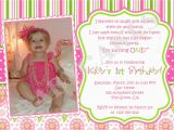 Sample First Birthday Invitation Wording 1st Birthday Girl themes 1st Birthday Invitation Photo