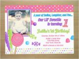 Sample First Birthday Invitation Wording 1st Samples A Cake