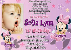 Sample Invitation For 1st Birthday Party First Birthday Invitation