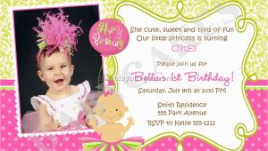 Sample Invitation for 1st Birthday Party 21 Kids Birthday Invitation Wording that We Can Make