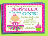 Sample Invitation for 1st Birthday Party Sample First Birthday Invitation Wording Best Party Ideas