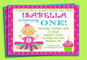 Sample Invitation For 1st Birthday Party First Wording Best Ideas