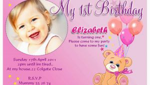 Sample Of 1st Birthday Invitation Card 20 Birthday Invitations Cards Sample Wording Printable