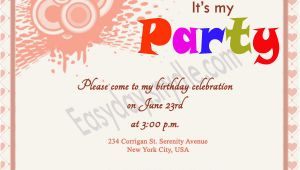 Sample Of A Birthday Invitation Birthday Invitation Wording Easyday