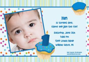 Sample Of Birthday Invitation Cards 1 Year Old Card Invitations For