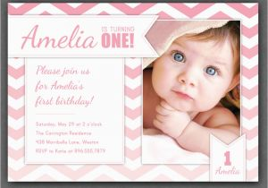 Sample Of Birthday Invitation Cards 1 Year Old Invites Awesome One Invitations