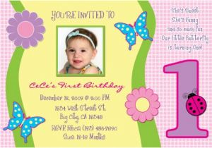 Sample Of Birthday Invitation Cards 1 Year Old Free One Invitations Template