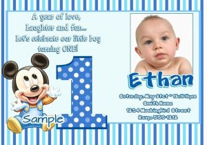 Sample Of Birthday Invitation Cards 1 Year Old Ideas