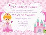 Samples Of Birthday Invitation Cards Princess Birthday Party Invitations Birthday Invitation